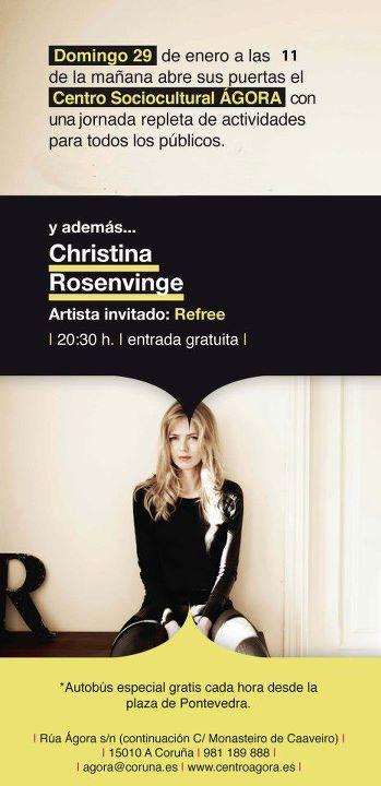 Christina Rosenvinge en el Ágora hoy domingo 29 a las 20:30