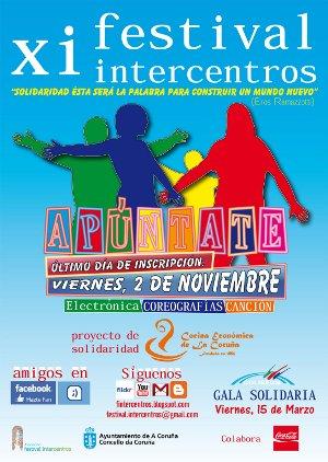 XI Festival Intercentros el 15 de marzo de 2013 en el Coliseum A Coruña