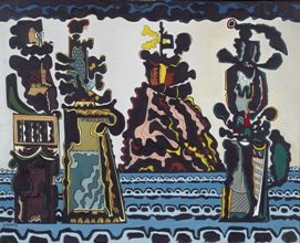Exposición de Eugenio Granell 'El espejo del pintor' en el Centro Sociocultural Novacaixagalicia