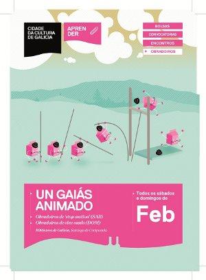 La Cidade da Cultura pone en marcha durante los fines de semana de febrero talleres audiovisuales con un Gaiás Animado