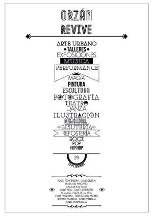 Orzán Revive, jornadas culturales 28 y 29 de septiembre, organizadas por el Movimiento Artístico Xuvenil (MAX)